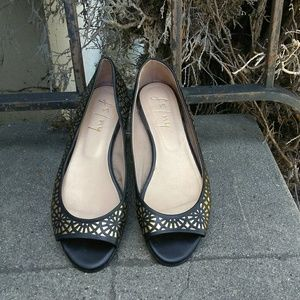 French Soles FSNY Open Toe Flats FS/NY